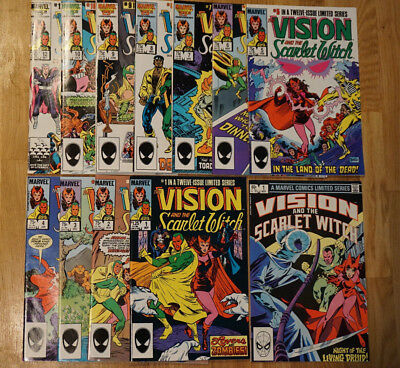 VISION & the SCARLET WITCH #1 and #1-12 Limited (Marvel 1982/1985) NM Full Run