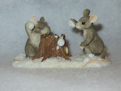 """snowball Fight"" Charming Tails - Silvestri - 87570 - Mint"