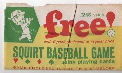 1963 Squirt Company baseball game in envelope, rare, Bo-Lyn Company