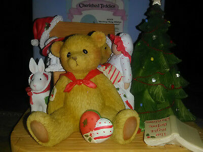 Cherished Teddies Bear w/ Toy Box  Lighted Limited Ed. Musical New 2016 NIB