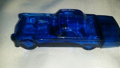 Vintage AVON BLUE THUNDERBIRD '55 CAR AUTO EMPTY DEEP WOODS AFTER SHAVE BOTTLE