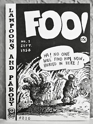 THE COMPLETE FOO! 3 very early R. Crumb comics, limited ed., RARE