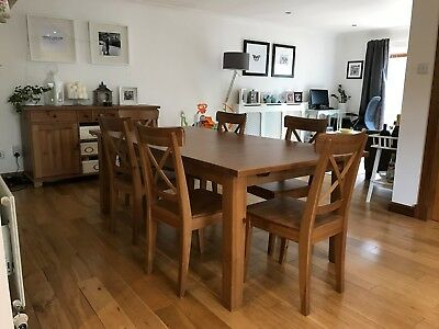 Ikea Stornas Extendable Dining Table With 6 Chairs 75 00 Picclick Uk