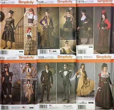 SIMPLICITY SEWING PATTERNS Costume Steam Punk/Gothic