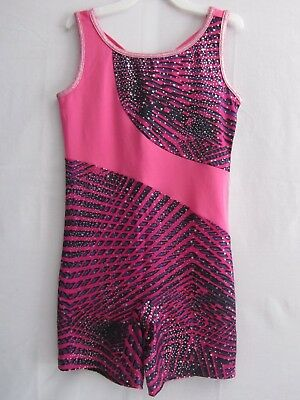 Danskin Now Girls M (7-8) Biketard Leotard Unitard Gymnastics Dance Nwot