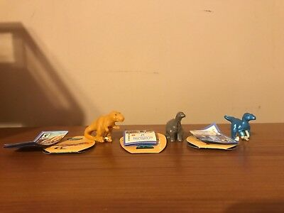 Kinder Surprise Egg Jurassic World Toys, Lot of Three