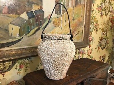 Spanish Pottery Pot Jar Vase Vintage