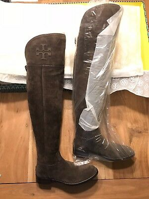 952433b6d Tory Burch Simone Over the Knee Boot Split Suede Cafe 259 - 32158625 Size  7.5