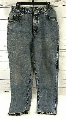 Ladies Vintage 1980s Acid Wash Dark Jeans LEE High Rise Grunge Juniors Sz 9 Worn