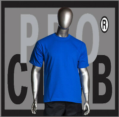PRO CLUB COMFORT T SHIRT ProClub Mens Big and Tall Crew Neck Short Sleeve 3X-7XL