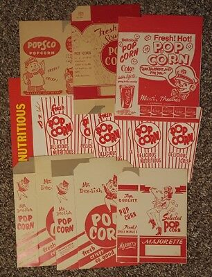Vintage Lot of 10 Unused Popcorn Boxes