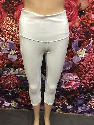 2c26e3d2d368aa ZELLA Women's High Waist Crop Legging In Metallic Silver Size S 💭(5)