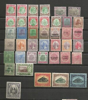 Malaya states early stamps collection, Cat. over $1000.00 M.L.H, M.H