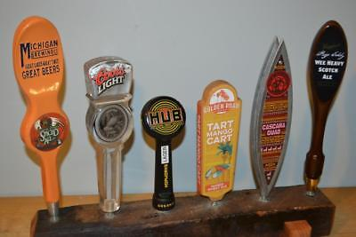 Lot Of 6 Classic Draft Beer Tap Handles