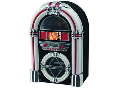 Jukebox CD Player FM Radio Compact Shelf Stereos Recorder Speaker with LCD Track