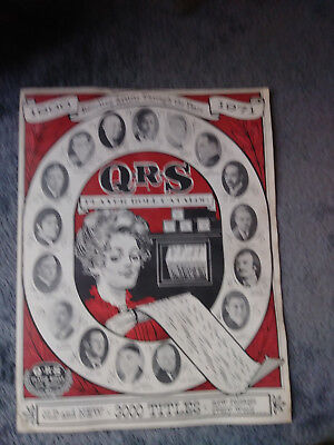 QRS Player piano Roll Catalog 1900-1971
