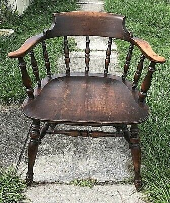 Antique Lowback Windsor Style Armchair