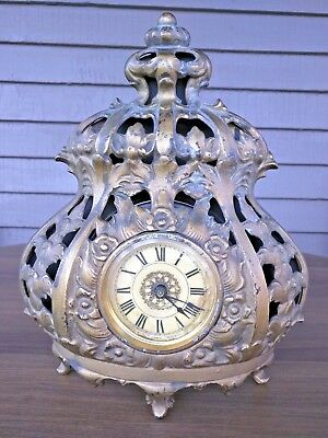 Antique Cast Iron Clock By A. L. Swift, Chicago, From The Deemer Iron Foundry
