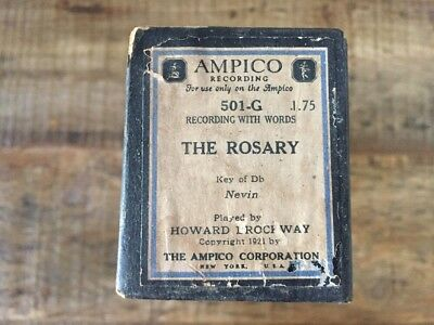 AMPICO Player PIano Roll 501-G 'THE ROSARY' by Nevin