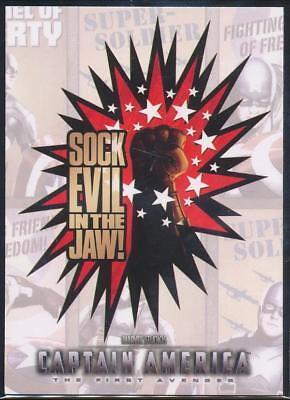 2011 Captain America Movie Posters Trading Card #P6 Sock Evil in the Jaw