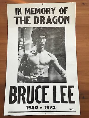 In Memory Of The Dragon Bruce Lee Poster 1940-1973 #117 14x22
