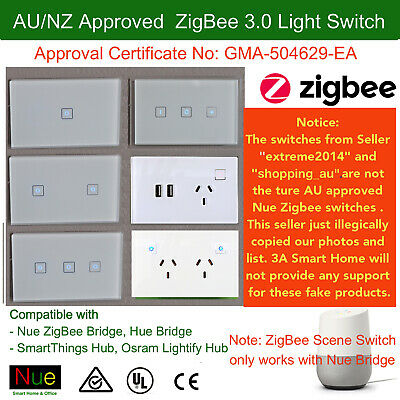 AU Approved Smart ZigBee Light Switch or Dimmer for Downlight Google Home Alexa
