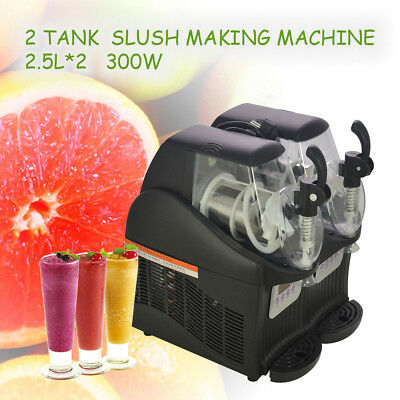 New 300W 2.5L*2 Mini Margarita Slush Frozen Drink Machine Slushy Making Machine