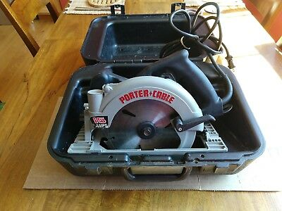 """Porter Cable 743 7-1/4"""" Circular Saw - Left Blade - with Case"""