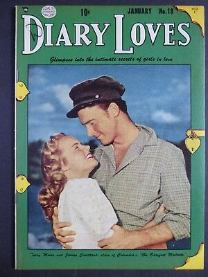 Diary Loves #18 (1952) Quality ~ FN ~ Movie Star cover