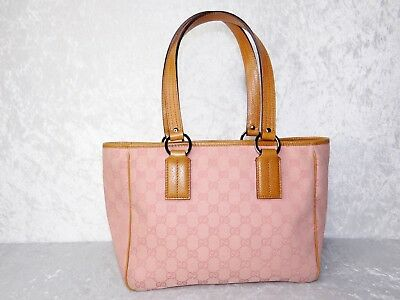 57ee297a954 GUCCI PINK LEATHER GG Monogram Canvas Medium Eclipse Tote (4026021 ...
