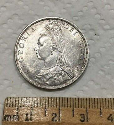 1889 Great Britain Silver Florin Two Shillings United Kingdom