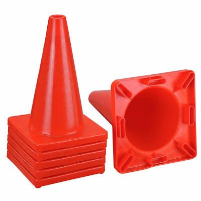 """6 New 18"""" Red Wide Body Road Safety Cones Construction Traffic Sports PVC Cone"""