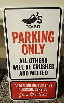 Chili's To Go Parking Only Sign Metal Official Restaurant Others Crushed Melted