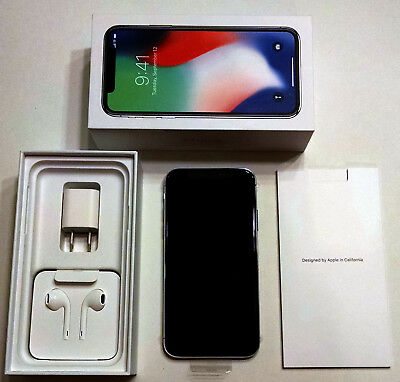 Apple iPhone X - 64GB - Silver (AT&T) A1901 (GSM) Brand New! Never Used!
