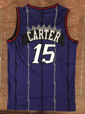 newest collection 59aaf 425e8 NWT #15 VINCE Carter Throwback Swingman Jersey Toronto Raptors Purple Mens
