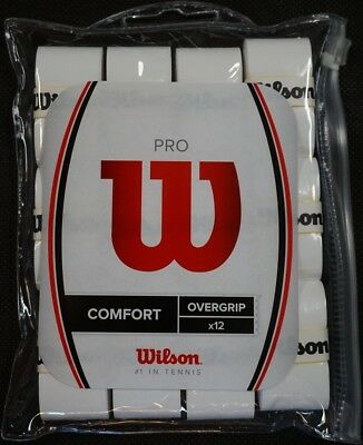 NEW Wilson Pro Overgrip 12-Pack Tennis With Waterproof Storage Bag