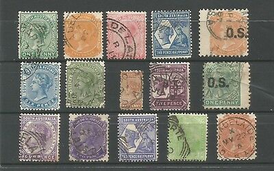 A8b/32, SELECTION AUSTRALIA STATE STAMPS as scan