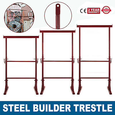 4/5/6 Level Height Adjustable Steel Builder Trestle Home Telescopic Band Stand