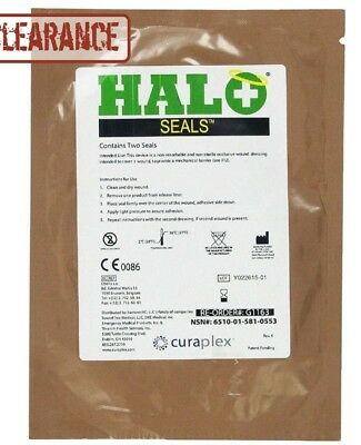 Halo Chest Seals 2 Per Package EXP:  11/1/2019 Occlusive Dressing
