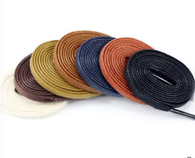 Multi Color Cotton Waxed Round Cords Strings Dress Shoe Laces 75//85//90cm /_WK