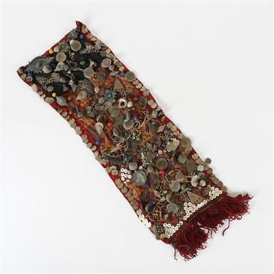 Egyptian / Bedouin? nomadic patched textile sash or adornment with co... Lot 135