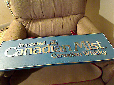 vintage canadian mist whisky sign