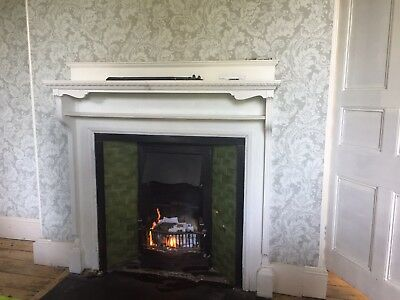 ORIGINAL VICTORIAN CAST IRON TILED FIREPLACE Surround listed separately
