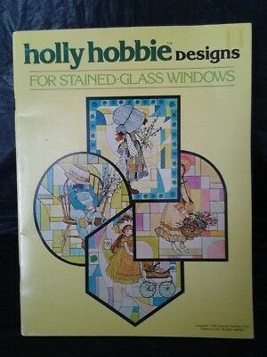 Vintage-1978 -Holly Hobbie Designs For Stained-Glass Windows- Isbn 0448163454