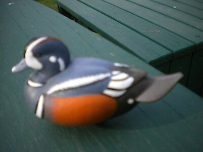 Jett Brunet Ducks Unlimited Miniature decoys Harlequin 2011 13th in series