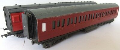 Brass Kit BR maroon coaches on Airfix and Mainline chassis x 2            [6493]