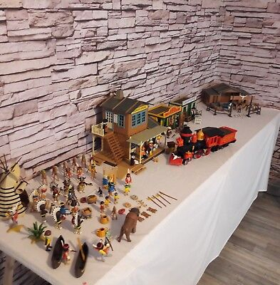 Playmobil Steaming Mary Eisenbahn Indianer Colorado Springs Saloon Silver Ranch