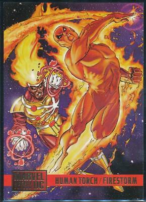 1995 DC Versus Marvel Trading Card #61 Human Torch vs. Firestorm