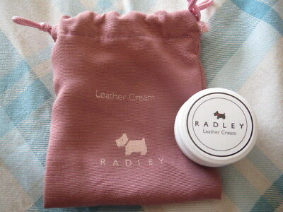 Genuine Radley - Small material pouch with Radley Leather Cream