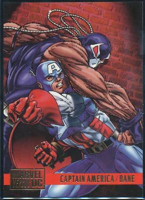 1995 DC Versus Marvel Trading Card #69 Captain America vs. Bane